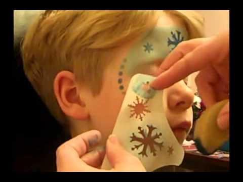 Homemade Face Paint Stencils