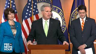 WATCH: House Republican leaders hold news conference