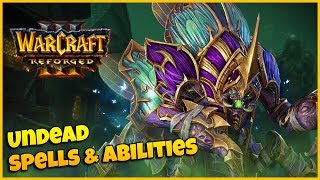 ALL Undead Spells & Abilities - Side by Side Comparison | Warcraft 3 Reforged Beta
