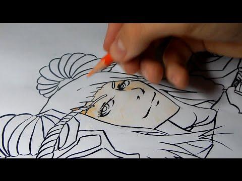 Видео как нарисовать девушку-демона