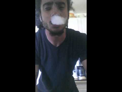 Guy smokes McDonalds French fry like a cigarette