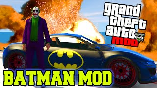 GTA 5 Mods - BATMAN & JOKER MOD GTA 5 PC MODS! GTA 5 PC Mod Funny Moments