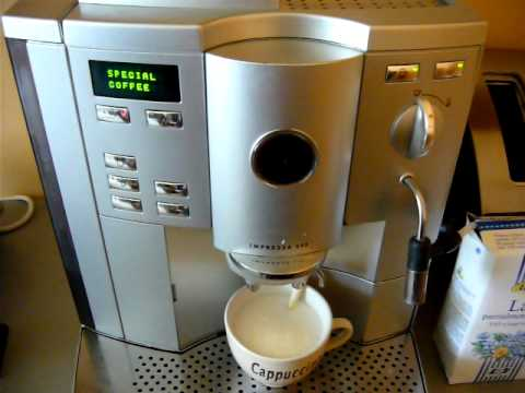 jura impressa s95 making cappuccino youtube. Black Bedroom Furniture Sets. Home Design Ideas