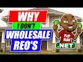 Why I don't Flip REO's & Real Estate Deals posted Online? Investing Flipping Houses