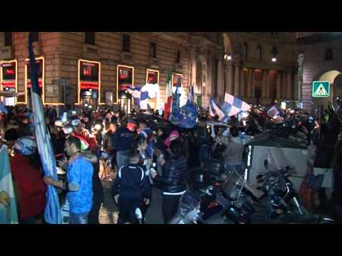 Napoli - Il Napoli vince la Coppa Italia, 3-1 alla Fiorentina - la festa (03.05.14)