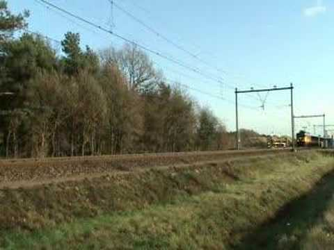 Train with empty commuter cars at Blerick,the Netherlands!!!