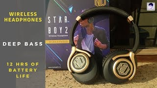 Nu republic Starboy 2 Wireless Headphone unboxing and review | Deep Bass
