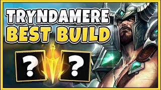 *CHALLENGER* RANK 1 TRYNDAMERE SHOWS  MOST BROKEN BUILD (INSANE)  - League of Legends