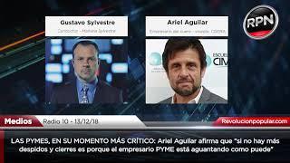 """Ariel Aguilar: """"si no hay más despidos y cierres es porque el empresario aguanta como puede"""""""