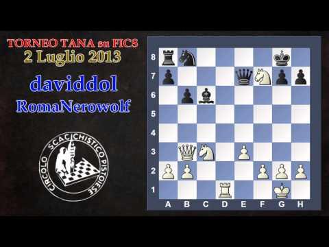 Torneo Tana - Daviddol Vs Romanerowolf - Gambetto Di Donna Rifiutato - Scacchi Live video