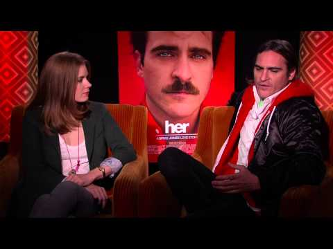 Her: Amy Adam & Joaquin Phoenix Official Interview Part 1 of 2 - Spike Jonze Movie