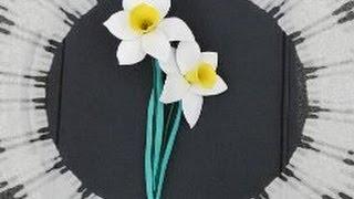 Нарциссы из фоамирана (ручная работа/handmade)