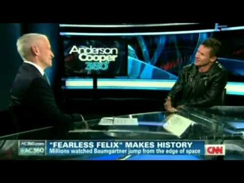 Felix Baumgartner Jump Interview - CNN AC360 - Oct 24 2012