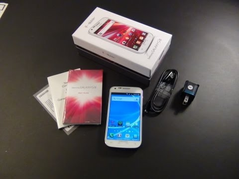 White T-mobile Samsung Galaxy S2 Unboxing & First Impression | Look