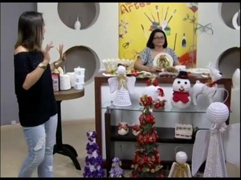 Mulher.com 21/11/2012 Carmem Freire - Guirlanda crochê endurecido 2/2