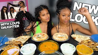 INDIAN FOOD MUKBANG + WE HAVE NEW HAIRDOS + WHERE HAVE WE BEEN??