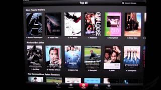 iTunes Movie Trailers iPad App Review - CrazyMikesapps