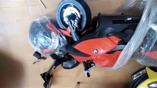 Hướng dẫn lắp xe máy điện trẻ em K-1600S part1