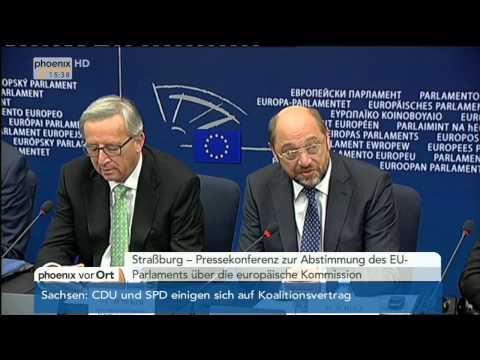 EU-Parlament: Jean-Claude Juncker & Martin Schulz zur neuen EU-Kommission am 22.10.2014