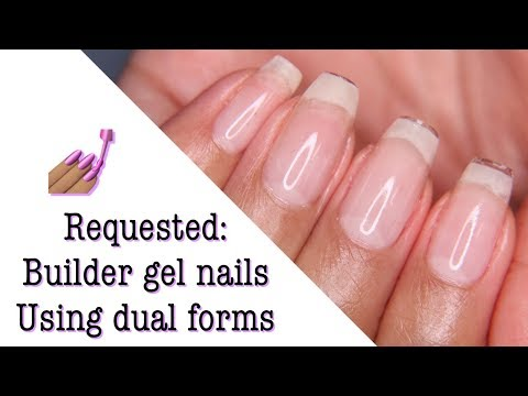 Requested: Builder gel nail using dual forms