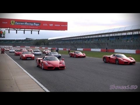WORLD RECORD: 964 Ferrari Cars Parade Around Silverstone F1 Circuit
