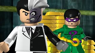 LEGO Batman The Videogame - All Villain Boss Fights (All 15 Hero Mission Boss Fights)