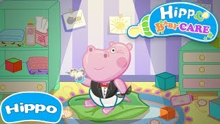 Hippo 🌼 Baby Care Game 🌼 Cartoon game for kids