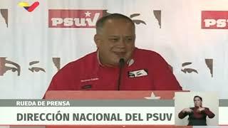 Diosdado Cabello realiza rueda de prensa de la Dirección Nacional del PSUV, 15 enero 2019