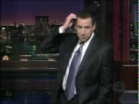 Sandler Monologue on David Letterman (as requested)