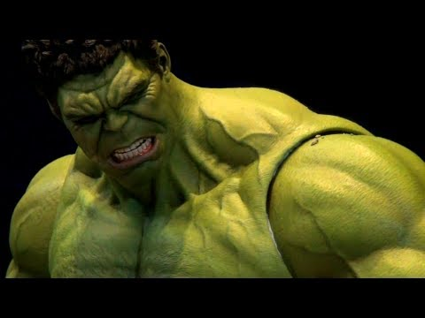 NEW 2012 Hot Toys HULK in Avengers Assemble display at ACGHK2012 HD