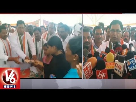 Congress Senior Leader Jana Reddy Visitation To Vemulakonda Tractor Accident Families | V6 News