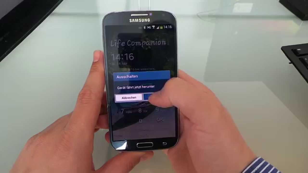 Samsung Sperrcode Sperrbildschirm Passwort vergessen S5