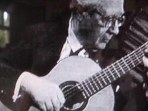 Andres Segovia guitar plays Capricho Arabe