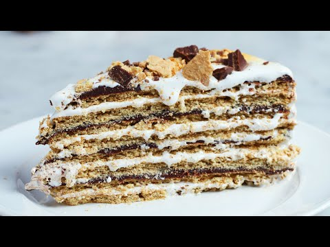16-Layer No-Bake S'mores Cake