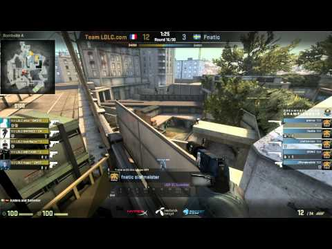 Dreamhack Winter 2014 CS:GO Championship Quarter Finals LDLC vs. Fnatic Game3 De_Overpass