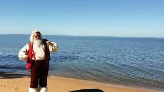 Santa couldn't resist the Baby Shark Challenge