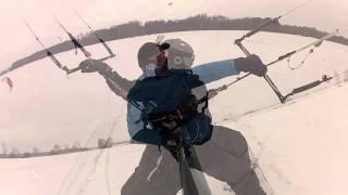 Czarnocin snowkite 10.03.2013 GoPro® Ozone Zephyr 17m & Best Waroo 16m