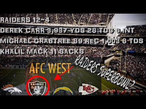NFL AFC WEST REVIEW 2016 / PREVIEW 2017... EPISODE 6.... SO YOU THINK YOU KNOW SPORTS