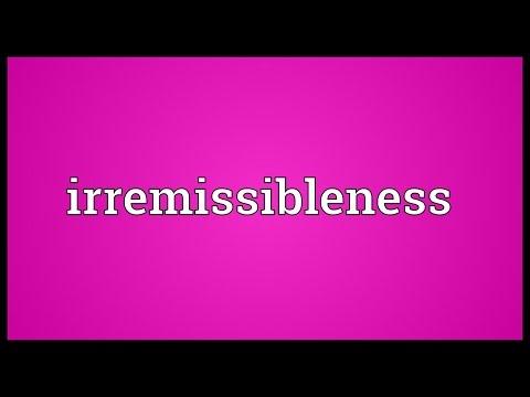 Header of irremissibleness