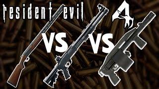 Qual é a melhor? Shotgun vs Riotgun vs Striker Comparação - Resident Evil 4 [BR]