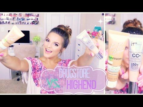 Drugstore VS. High End   Garnier BB Cream & It Cosmetics CC Cream
