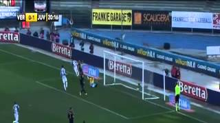 Highlights Verona 2-2 Juventus [09/02/2014)  [HD) ZULIANI