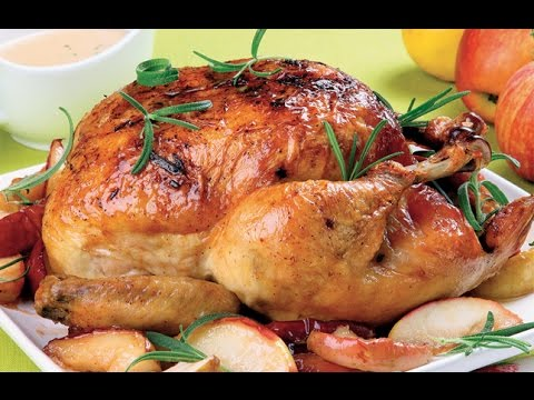 Pollo al horno navideño / Pollo navideño / Recetas navideñas fáciles