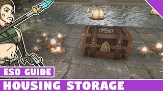 ESO Home Storage! Elder Scrolls Online Housing Storage