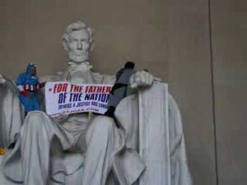 Fathers 4 Justice at the Lincoln Memorial Video