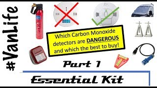 VanLife Essentials Part 1 - Including which Carbon Monoxide Detector - Motorhome, Campervan, RV gear
