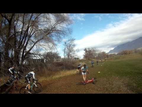 Weber County Fairgrounds UTCX Race #10 Stair Crash 11-17-2012