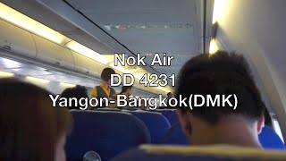 Nok Air Boeing 737-800(WL) Flight Report: DD 4231 Yangon to Bangkok (DMK)