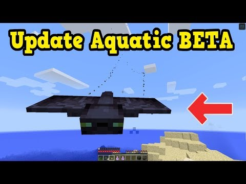 Minecraft 1.13 Aquatic Update BETA OUT - 2 NEW MOBS!