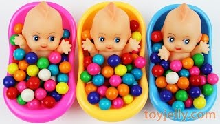 Learn Colors Bubble Gum Baby Doll Bath Time Nursery Rhymes Finger Family Song For Children
